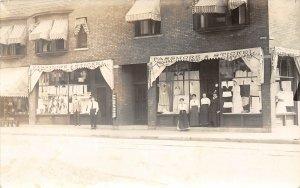 F52/ Detroit Michigan RPPC Postcard c1910 Passmore & Stickel Clothes Store