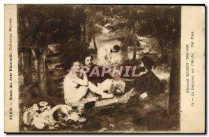 Old Postcard Paris Musee Des Arts Decoratifs Edouard Manet's Dejeuner Sur L &...