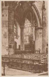 Sepia Tone View: Interior of St. Giles Cathedral, View of The King's Pew from...