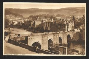 Llangollen Bridge & Town Wales unused c1920's