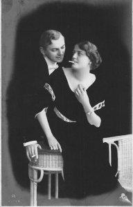 Cigarettes Risque Romantic Lovers The Carlton Postcard
