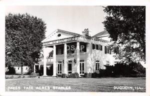 A83/ DuQuoin Illinois Il Real Photo RPPC Postcard c1950 Hayes Fair Acres Stables