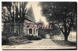 Old Postcard Chateau d'Anet E and L View Apse Park Funeral Chapel