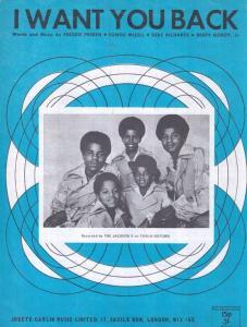 I Want You Back Jackson Five 1960s Sheet Music