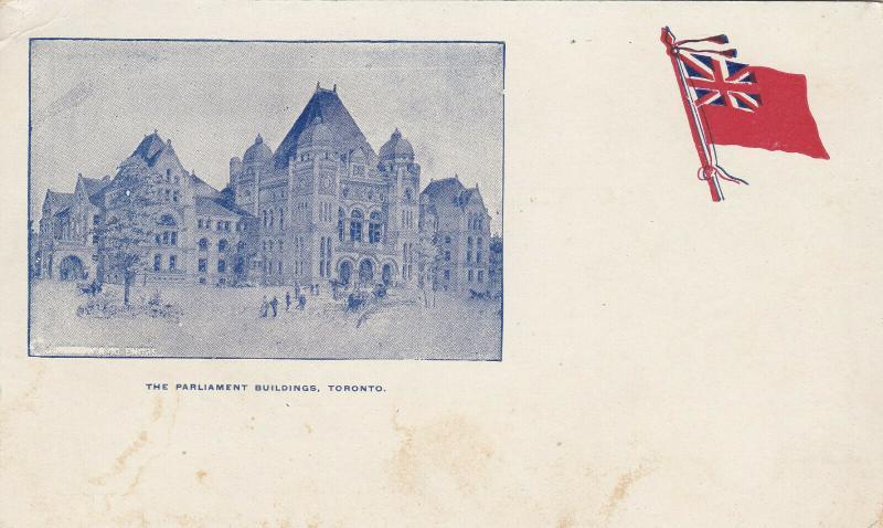 TORONTO, Ontario , 1890s ; Parliament Buildings , Flag