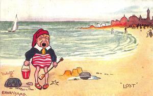 Raphael Tuck Seaside Humour Lost Signed Ernest Aris Postcard