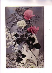 Photo, Deco Vase with Tinted Roses, Eastern Europe