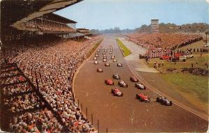Indianapolis Indiana~500 Mile Race Track~Pace Cars Lap~1959 Postcard