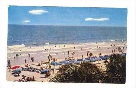 Blue Unmbrellas on Myrtle Beach SC 40-60s