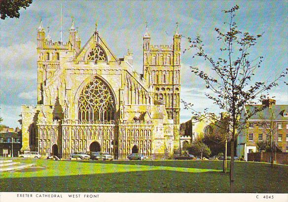 England Exeter Cathedral West Front