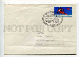 421850 GERMANY 1978 y Europa Ebria congress Esslingen  COVER w/ sport ski stamp
