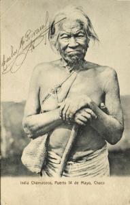 argentina, India Chamacoco, Native Old Chaco Indian, Puerto 14 de Mayo (1910s)