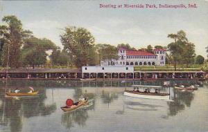 Boating At Riverside Park, Indianapolis, Indiana, 1900-1910s