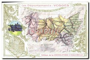 Old Postcard geographical maps of Chocolaterie & # 39Aiguebelle Vosges Cloitr...
