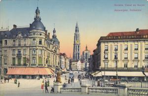ANVERS, Belgium, 1900-1910's; Canal Au Sucre