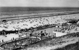 Netherlands Zandvoort Riche Bad Strand, Swimming Pool Beach Plage Panorama