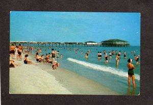 ME Beach Bathers Pier Casino Old Orchard Beach Maine Postcard