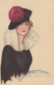 ART DECO ; NANNI ; Female Fashion Head Portrait #5 , 1910-20s