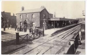 London; High Rd, Barking Railway Station From East St Repro PPC, Unposted
