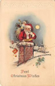 Santa Claus Postcard Antique Christmas Post Card Writing on back