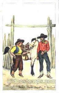 Western, Cowboy, Cowgirl, Postcard Postcards  Ranch (dude) Days