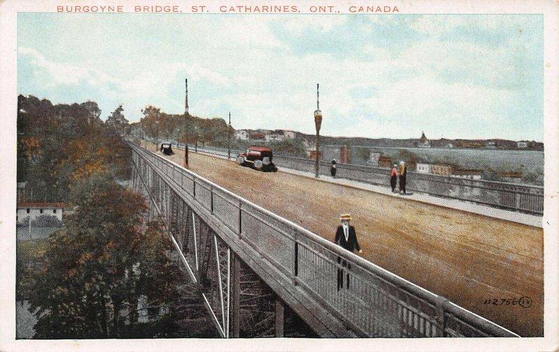 Burgoyne Bridge, St. Catharines, Ontario, Canada, Early Postcard, Unused