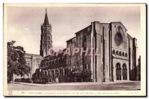 Postcard Old Toulouse Basilique Saint Sernin
