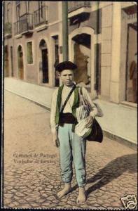 portugal, Vendedor, Newspaper Seller, Costumes 10s