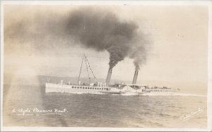 A Clyde Pleasure Boat Ship Porter Cards Real Photo Postcard G47