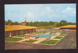 OZARK ALABAMA HOLIDAY INN MOTEL SWIMMING POOL VINTAGE POSTCARD