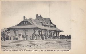NORTH BATTLEFORD , Sask., Canada , 1900-10s ; C.N. Railroad Train Depot