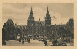 Netherlands Amsterdam Rijksmuseum vintage  Postcard