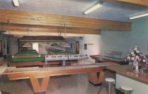 Highlands Billiards centre , interior , North Vancouver , B.C. , Canada 50-60s