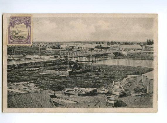 133071 Mozambique Bridge over Chiveve River Vintage postcard