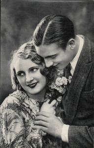 Glamour couple lovers love Cecani publishing Italy photo postcard