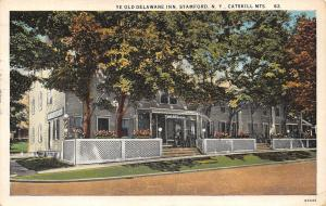 Stamford New York~Catskill Mts~Ye Old Delaware Inn~Ate Dinner Here~1929 Postcard