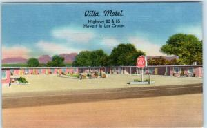 LAS CRUCES, New Mexico  NM   Roadside  VILLA MOTEL  ca 1940s Linen   Postcard
