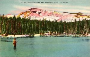 Colorado Rocky Mountains Fishing At Braynard Lake and Arapahoe Peaks
