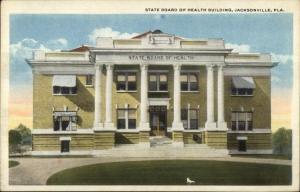 Jacksonville FL State Board of Health c1920 Postcard