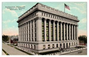 Early 1900s Northwestern Mutual Life Insurance Co. Milwaukee, WI Postcard *5E5