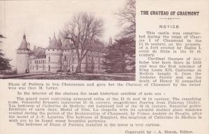 Notice, The Chateau Of Chaumont, Loir Et Cher, France, 1900-1910s