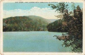 Postcard East Shore Lake Luzerne Cobble Hill Luzerne New York