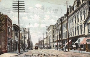 Greensboro North Carolina South Elm Street Vintage Postcard JI658461