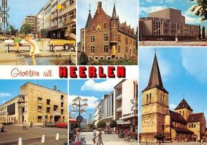 Netherlands Groeten uit Heerlen, Kirche Church Street Auto Cars Castle Promenade