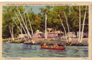 1941 FISH CREEK STATE CAMPING GROUNDS BETWEEN TUPPER AND SARANAC LAKES, N.Y.