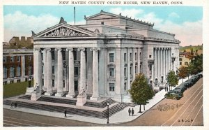 New Haven, Connecticut, CT, County Court House, Unused Vintage Postcard h4867