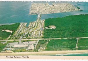 Aerial View, NETTLES ISLAND, Florida, 50-70's