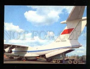 042978 Russian plane IL-76 load in airport Old photo