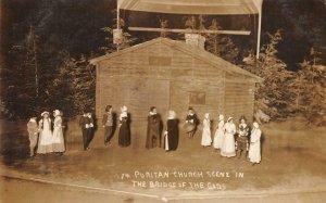 RPPC Puritan Church Scene In The Bridge of the Gods c1910s Vintage Postcard
