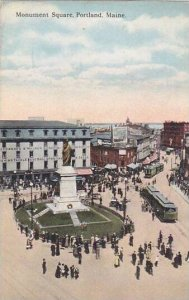 Maine Portland Monument Square 1916
